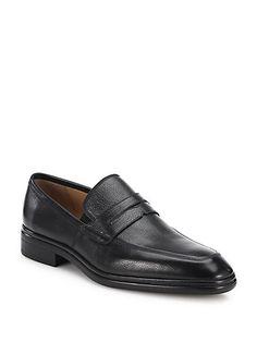 BALLY Nebraska Apron Grain Leather Penny Loafers. #bally #shoes #flats