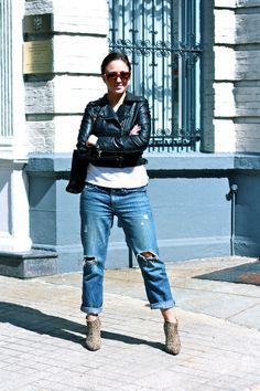 Boyfriend jeans + Booties
