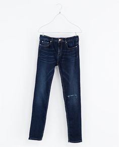 Image 5 of SKINNY BLUE JEANS from Zara