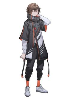 Anime Outfits Male Badass Anime Outfits Male Badass Source by phamlcp clothes ideas male Cyberpunk Kunst, Cyberpunk Anime, Cyberpunk Fashion, Gothic Fashion, Male Character, Character Outfits, Character Concept, Concept Art, Fantasy Character