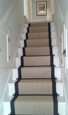 Alternative Flooring In-situ. Be inspired and start decorating! Narrow Staircase, Carpet Staircase, Staircase Railings, Staircase Design, Spiral Staircases, Victorian Terrace Hallway, Cotswold House, Narrow Hallway Decorating, Alternative Flooring