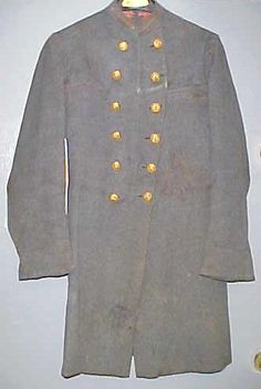 Confederate 2nd Lieutenant of Infantry frock coat circa 1862