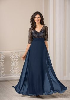 Jade J185015 in Navy by Jasmine Bridal