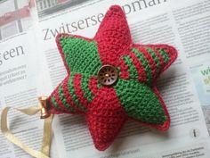 Gehaakte en gevulde kerstster #haken #crochet #christmas