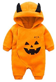 Baby Boys Girls Long Sleeve Cartoon Halloween Pumpkin Hooded Romper Jumpsuit size 69 Months73cm Orange >>> Click image to review more details. (This is an affiliate link) Halloween Cartoons, Halloween Costumes For Girls, Halloween Dress, Baby Boy Outfits, Kids Outfits, Baby Supplies, Reborn Babies, Baby Month By Month, Baby Dress