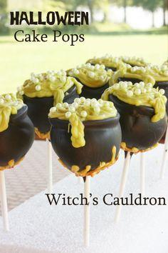 Witch's Cauldron Halloween Cake Pops