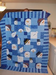 Snowman Quilt I know someone that would love this...