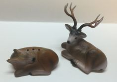 Buck and doe vintage salt and pepper shakers Collectable by Bayleesncream on Etsy