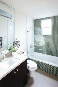 Interior Design by Noz Nozawa   |  Noz Design  |  Simple modern guest bathroom in the designer's home, Chez Noz.  Photo by Colin Price Photography