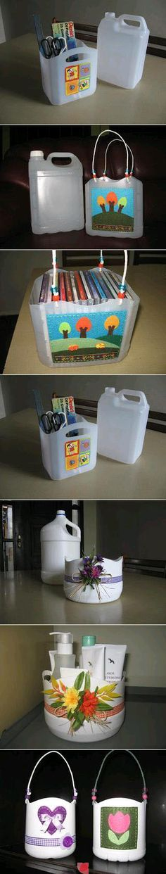 re-purposing used plastic container