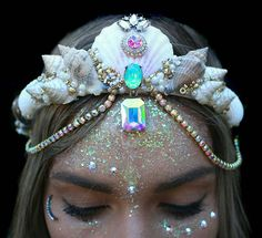 "culturenlifestyle: "" New Dazzling Mermaid Crowns Inspired by Ariel by Chelsea…"