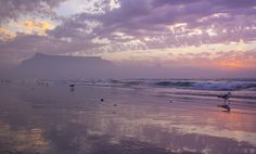 Time spent at the beach is never wasted. Table Mountain, Cape Town, South Africa, Quote, Activities, Sunset, City, Beach, Water