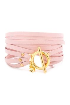 Graham Triple Strand Triple Leather Wrap Bracelet...cute!