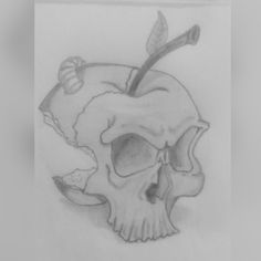 Cranio-mela • Disegno a matita Photography, Art, Art Background, Photograph, Fotografie, Kunst, Photoshoot, Performing Arts, Fotografia