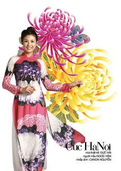 Ao dai Vietnam 2014 - Van Mieu. Hanoi -  Designer: Duc Hai - Photo: Canon Nguyen - Model: Ngoc Han