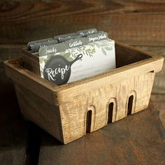 Berry Basket Recipe Box | Box Only