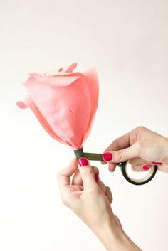 DIY Crêpe Roses papier