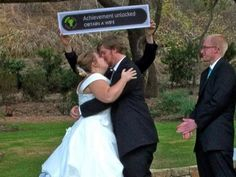"""Xbox style achievement in the ceremony. Maybe not """"obtain a wife,"""" but something more loving."""