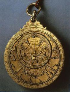 Obverse of an astrolabe made for Ali ibn Ibrahim al-Yarrar, 1327.
