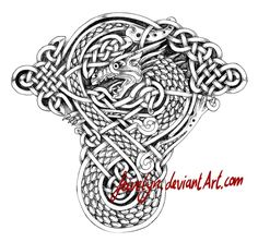 Celtic Dragon VIII Tattoo by Feivelyn on DeviantArt