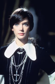 Beguiling Pamela Franklin as physical medium Florence Tanner in the Legend of Hell House (1973).