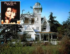 """Revisiting the Victorian built for the 1998 movie """"Practical Magic,"""" inspired by late architecture and New England lighthouses. Victorian Houses For Sale, Victorian Homes, Practical Magic Movie, New England Lighthouses, Houston Heights, Home Buying Tips, Modern Home Furniture, Condos For Sale, Inspired Homes"""