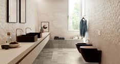Porcelain stoneware wall/floor tiles MEDLEY By Supergres Bathroom Inspiration, Design Inspiration, Wall Tiles Design, Wall And Floor Tiles, Double Vanity, Stoneware, Indoor, Flooring, Interior Design