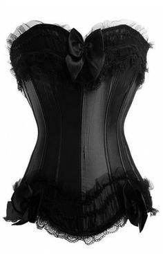 beautiful black corset