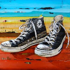 Retro sneakers vintage Meaningful by dannyphillipsart on Etsy