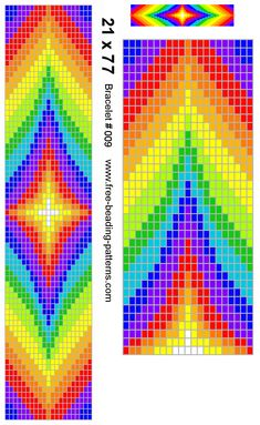 Bead pattern #Beads #Stitch #Rainbow Maybe in a different color scheme, not crazy about the rainbow