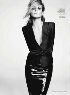Heidi Klum wearing Ancient America earrings in 18K Noble Gold with onix at Marie Claire February issue - 2013 #HStern