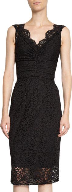 Dolce & Gabbana Net Lace Sleeveless Dress at Barneys.com
