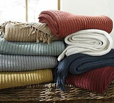 Throws, Throw Blankets & Decorative Throws | Pottery Barn