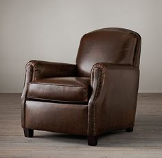 """Keaton Leather Club Chair;""""Chestnut Antiqued"""" leather $1695 each*"""