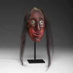 false face masks | Iroquois Carved False Face Mask From the Collection of : Lot 310