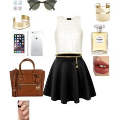 Senza titolo #6 by catelondon on Polyvore featuring polyvore, moda, style, Topshop, Michael Kors, By Malene Birger, Tiffany & Co., Ray-Ban, Charlotte Tilbury and Chanel