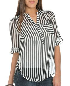 Vertical Stripe Pullover I Shop Just Arrived at Wet Seal Kurta Designs, Blouse Designs, Mom Outfits, Fashion Outfits, Oversized Blouse, Work Wardrobe, Western Wear, Shirt Blouses, Chiffon Tops