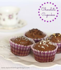 Quick Chocolate Cupcakes Recipe | A Spoonful of Sugar