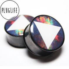 #Galaxy #nebula #plugs #gauges #triangle www.pluglifeco.bigcartel.com