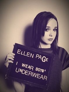 "Ellen Page. ""I am tired of hiding and I am tired of lying by omission."" - on coming Out as a Lesbian"