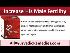 This video describes how a man can increase his male fertility with Spermac sperm enhancer pills.