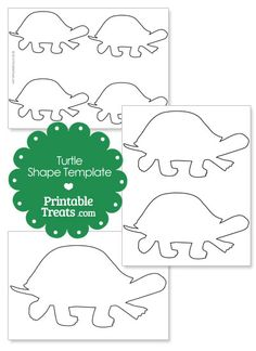 Printable Turtle Shape Template from PrintableTreats.com Learning Activities, Teaching Ideas, Shape Templates, Crafts For Kids, Diy Crafts, Free Preschool, Paper Piecing, Free Printables, Fun Stuff