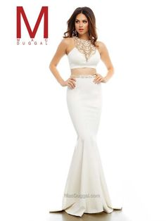 || Pure Couture Prom || Cassandra Stone by Mac Duggal. Prom 2016. prom dress shopping. prom styling. makeup and hair ideas for prom 2016. high school prom. long, white sparkle two-piece prom dress.