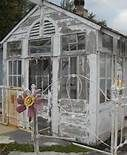 greenhouse made with old doors and windows=awesomness for the back yard! Build A Greenhouse, Greenhouse Gardening, Outdoor Greenhouse, Greenhouse Ideas, Rustic Greenhouses, Victorian Greenhouses, She Sheds, Potting Sheds, Old Doors