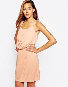 Image 1 ofASOS Grecian Wrap Front Mini Dress