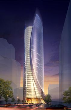 The skyscraper designed by Cesar Pelli would bring 528 feet of curvy glass to the corner of Congress and Sudbury New Sudbury streets in Boston.