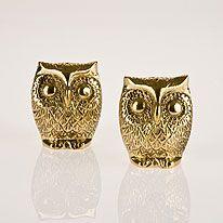Owl Salt and Pepper Set. @handydandy1226