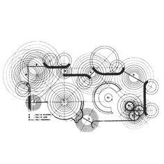 Paolo Portoghesi and Vittorio Gigliotti, Casa Papanice in Rome, 1969 Concept Architecture, Architecture Drawings, Architecture Design, Landscape Architecture, Architecture Diagrams, Landscape Sketch, Building Architecture, Architecture Portfolio, Backgrounds