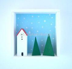 Χριστουγεννιάτικο καδράκι 3d
