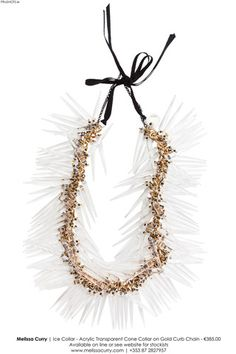 €385 #ice #collar #necklace #melissacurry #transparent #cones #spikes